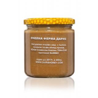 Пълнозърнест сусамов и ленен тахан с пчелен мед